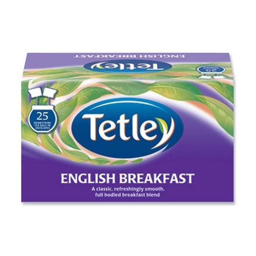 Tetley Drawstring Envelope English Breakfast Pack 25