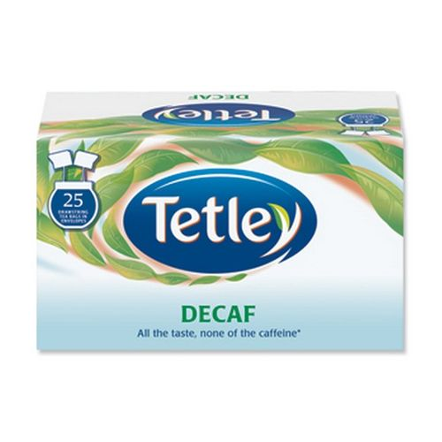 Tetley Drawstring Envelope Decaf Pack 25