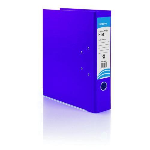 Initiative Lever Arch File FC Purple