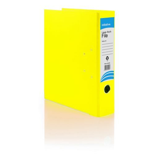 Initiative Lever Arch File A4 Yellow