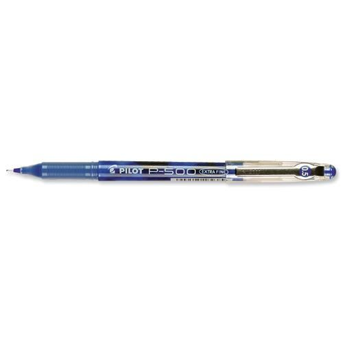 P500 Pilot Gel Ink Rball X-Fine Blue               050101203