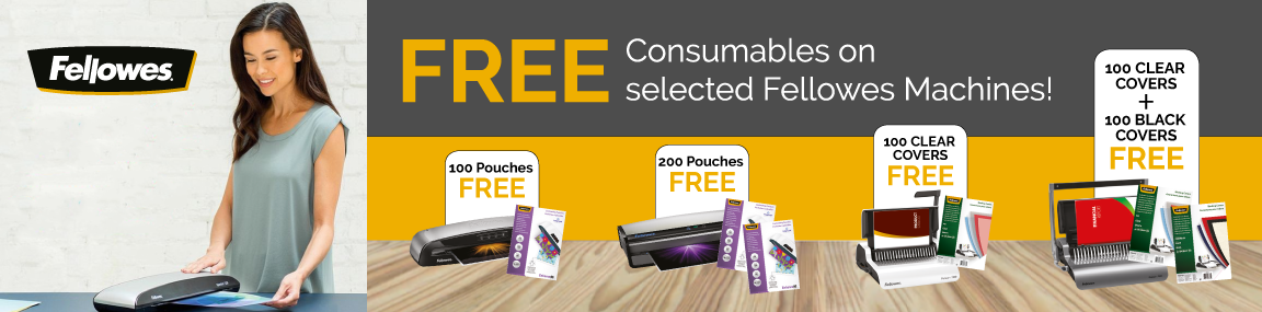 FREE consumable bundles from Fellowes Banner Image