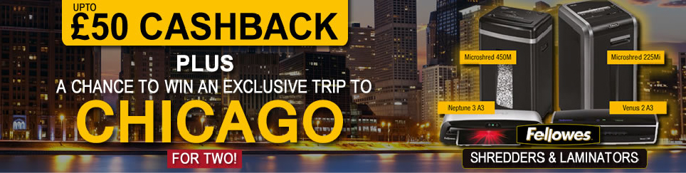 Fellowes Chicago Promotion Banner Image