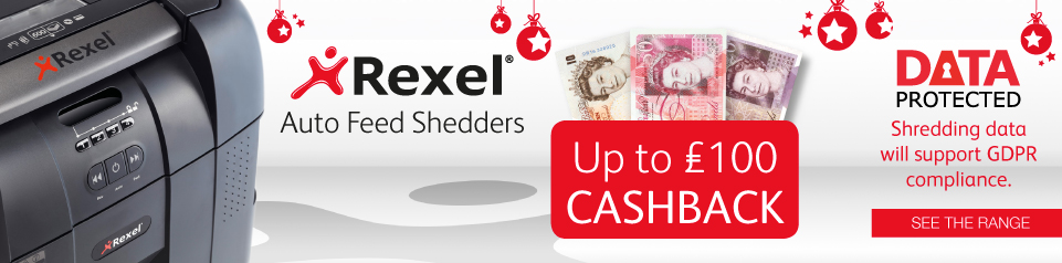 Up to £100 Cashback With Rexel Banner Image