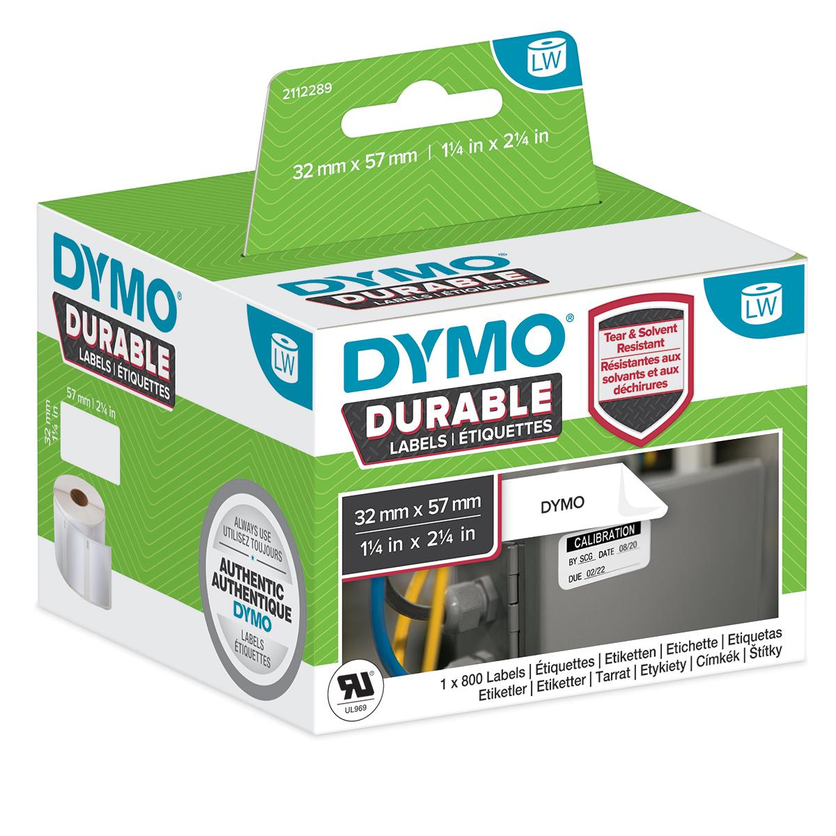Dymo 2112289 LW Durable medium multi-purpose 57mm x 32mm Black on White