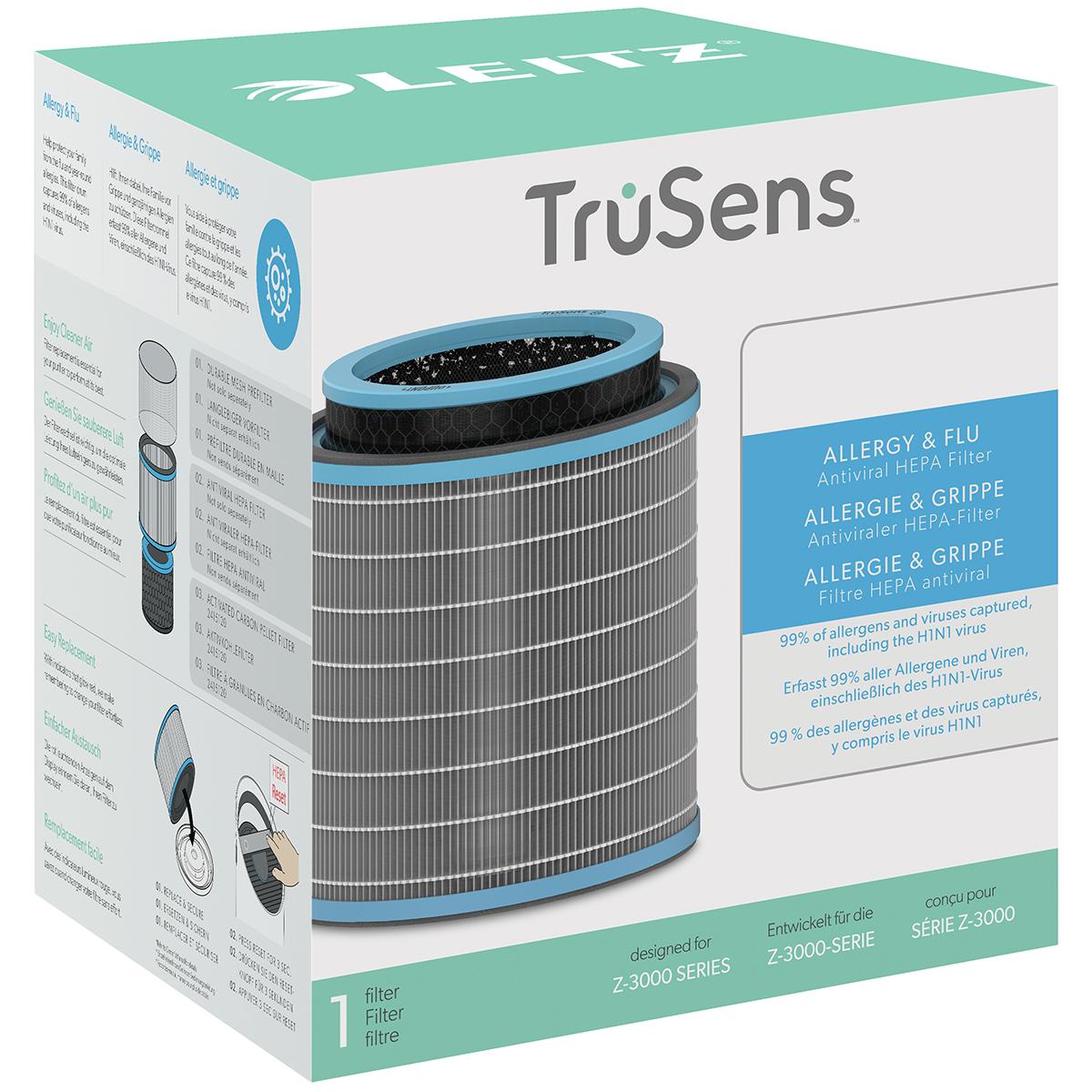 Leitz TruSens Z-3000 Allergy and Flu Anti-viral 3-in-1 HEPA Filter Drum