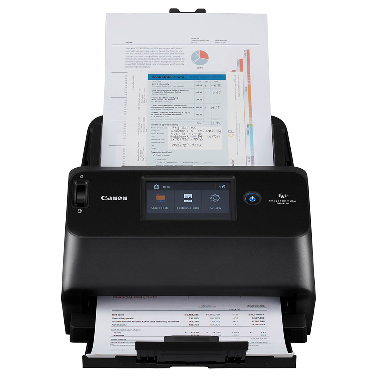 Canon DR-S150 A4 DT Workgroup Document Scanner
