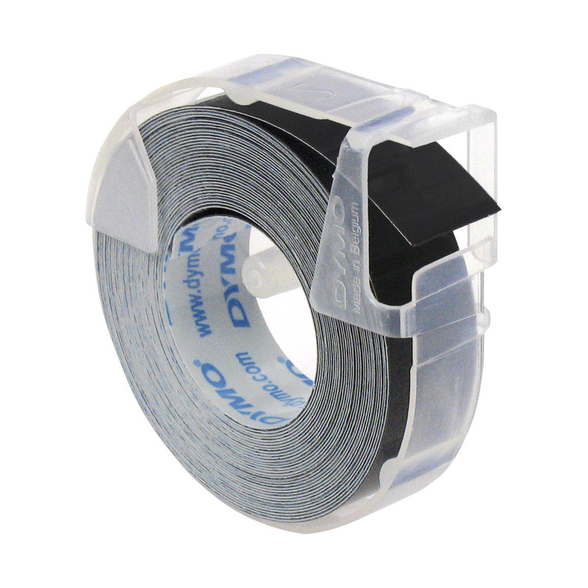 Dymo S0898130 White on Black Embossing Tape