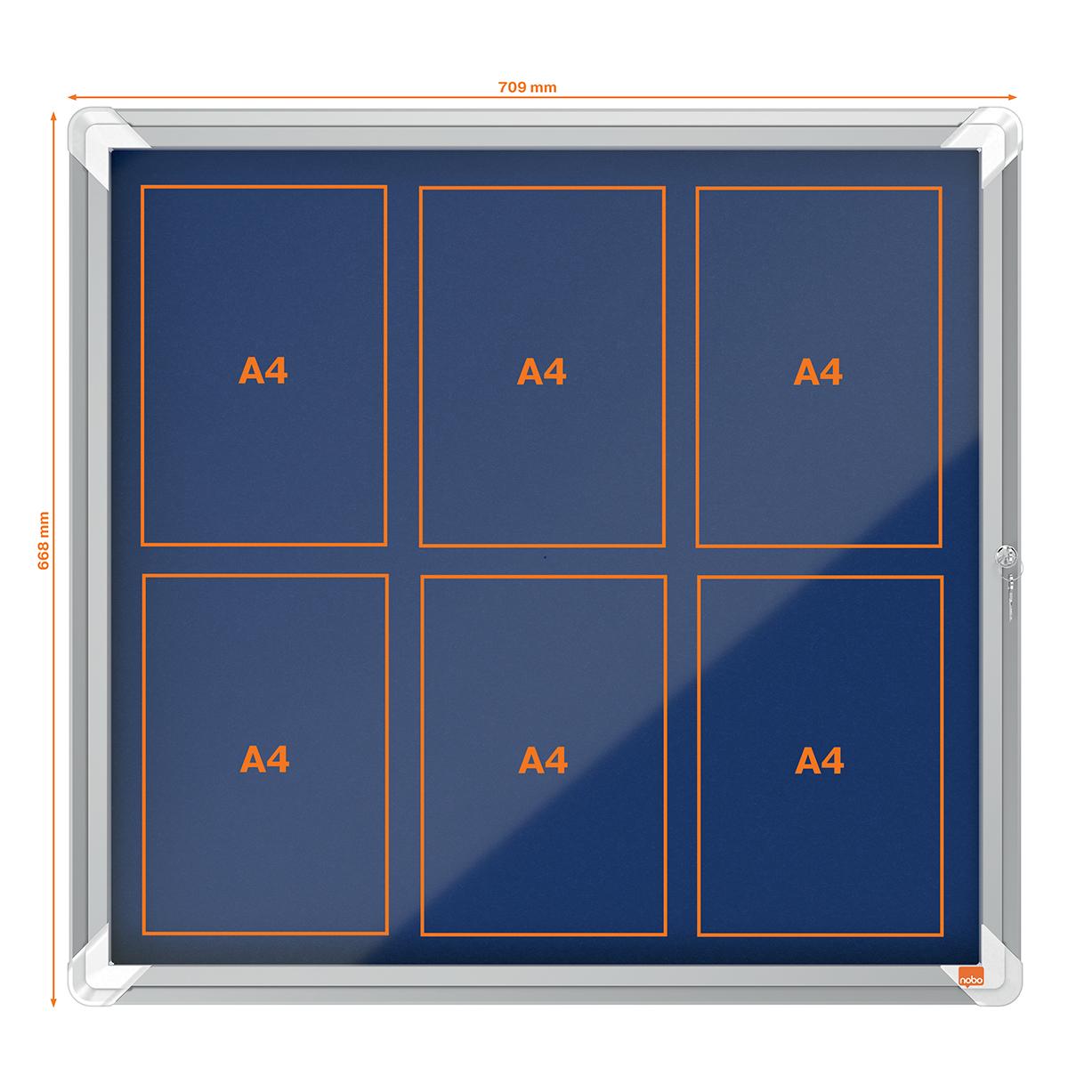 Nobo 1902555 Internal Glazed Case Blue Felt 6 x A4