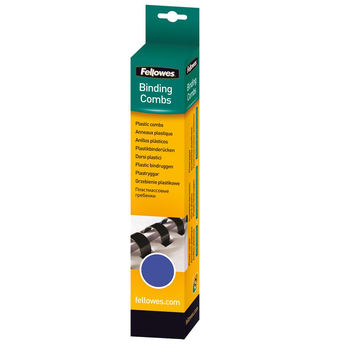 Fellowes 53309 10mm Blue Comb 25pk