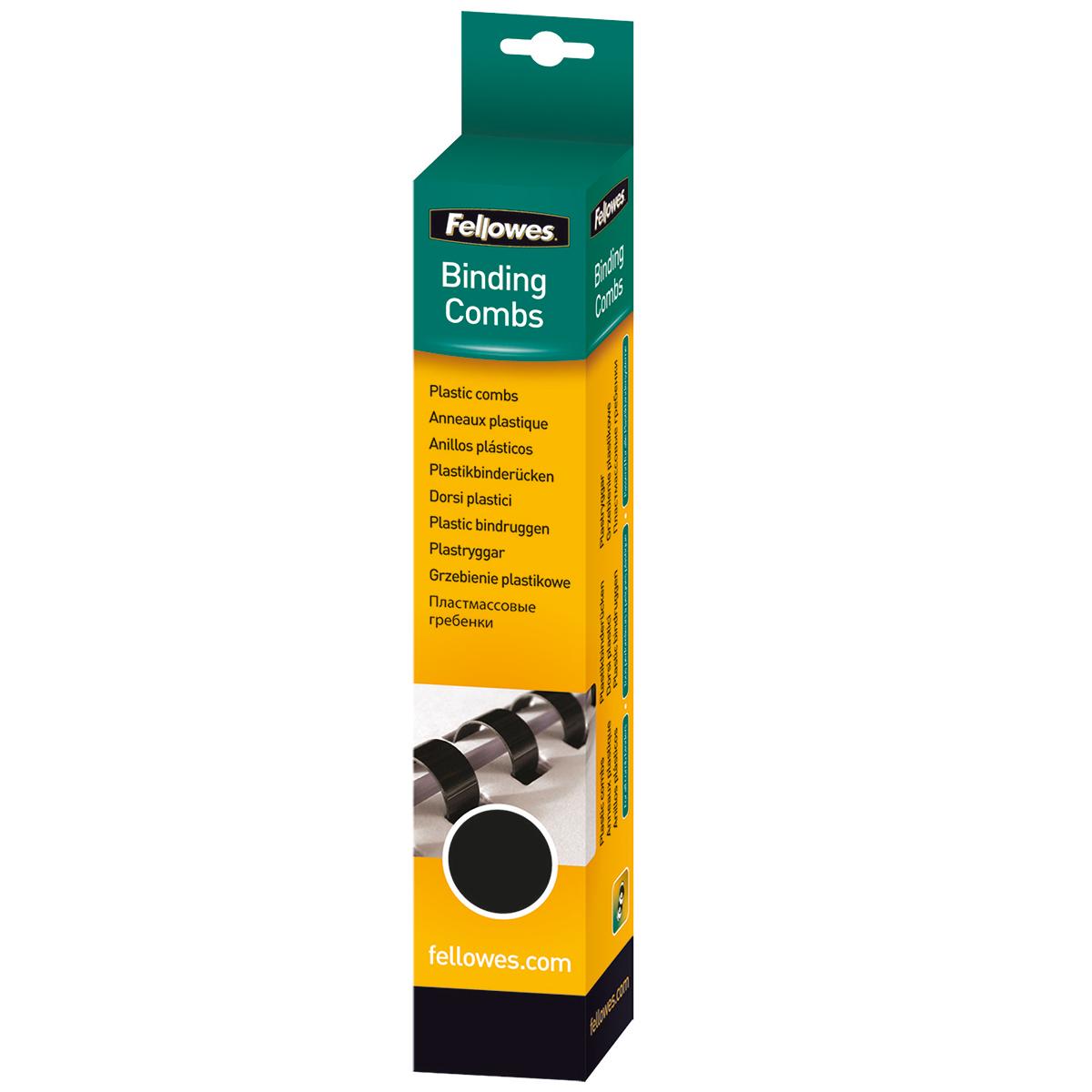 Fellowes 5331102 10mm Black Comb 25pk