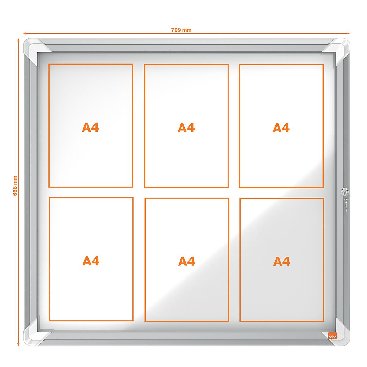 Nobo 1902558 Internal Glazed Case Magnetic 6 x A4