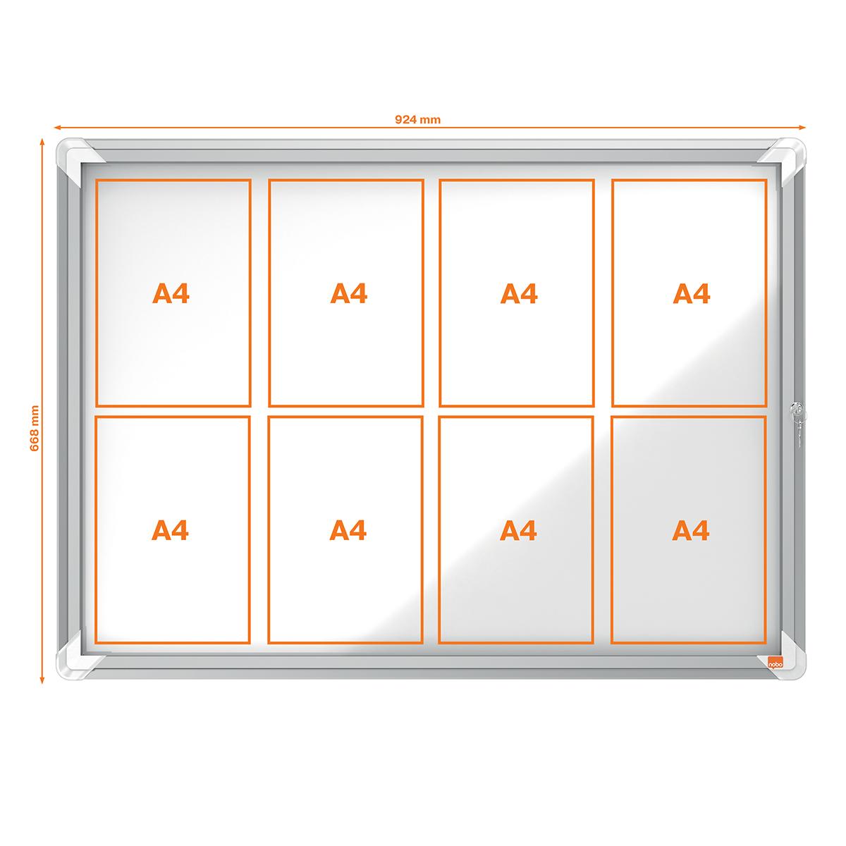 Nobo 1902579 External Glazed Case Magnetic 8 x A4