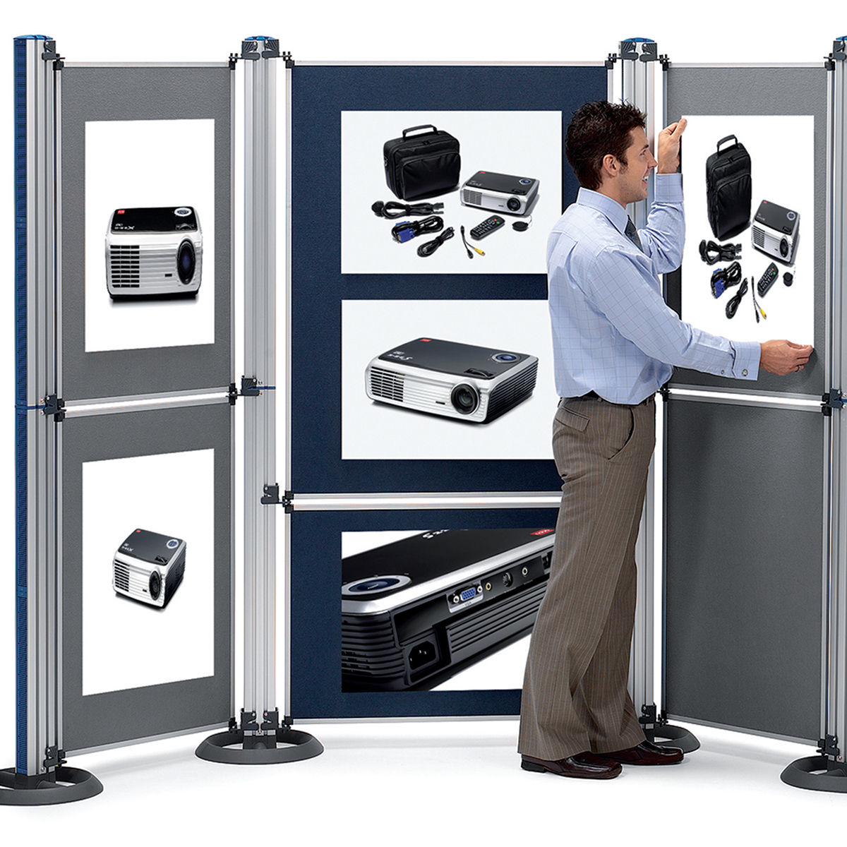 Nobo 1902216 Modular Display System - Upright and Base