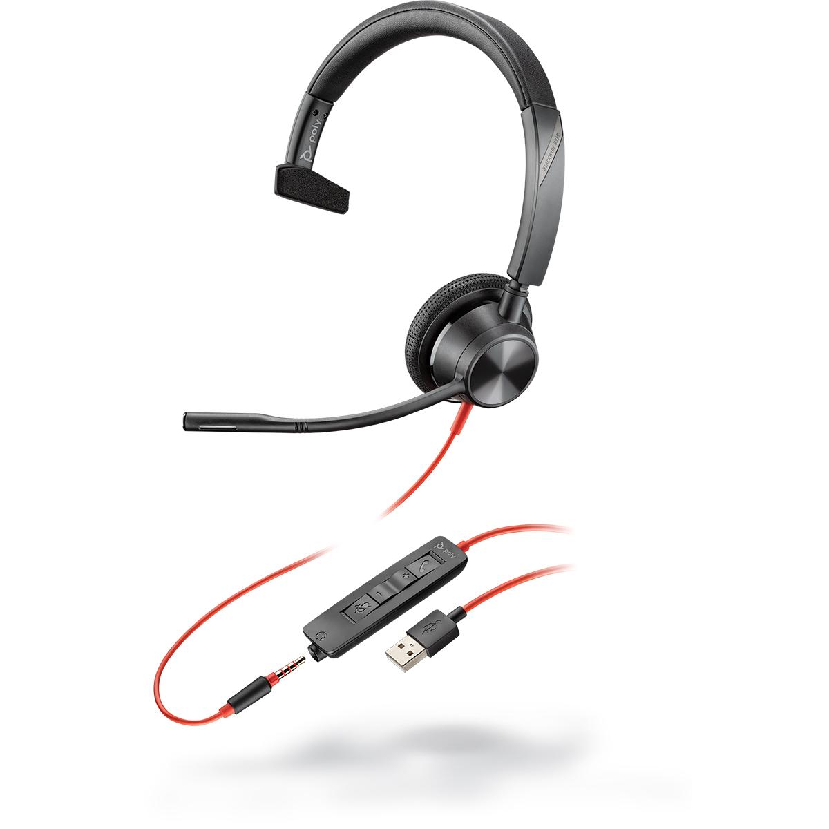Poly Blackwire 3315 USB-A UC Monaural Headset