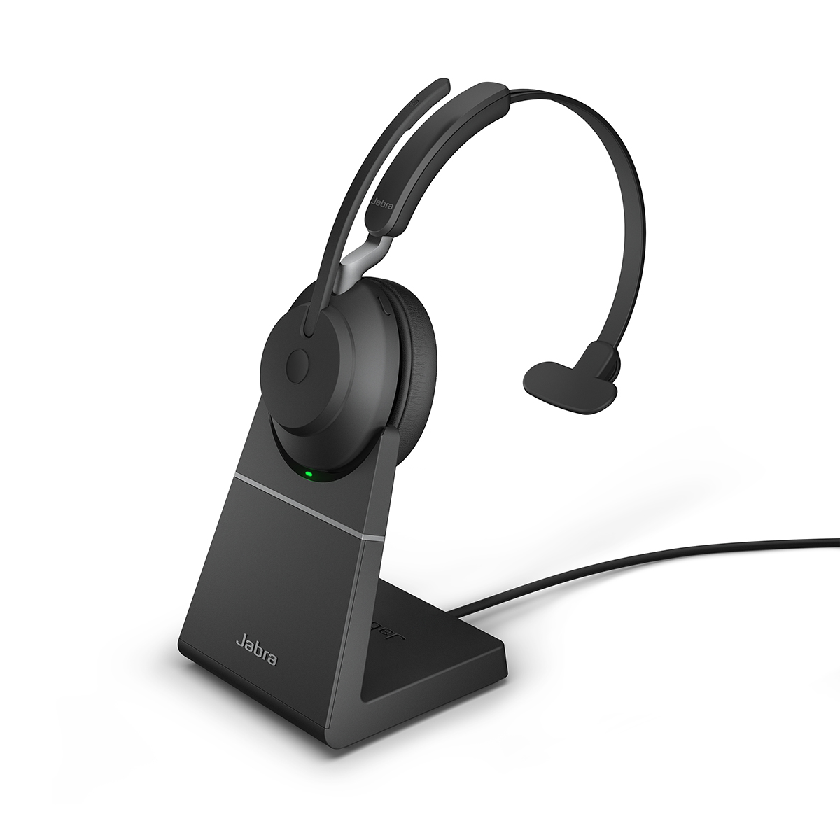 Jabra Evolve2 65 USB-A MS Mono Headset with Charging Stand