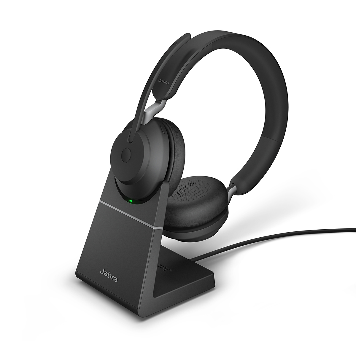 Jabra Evolve2 65 USB-A UC Stereo Headset with Charging Stand