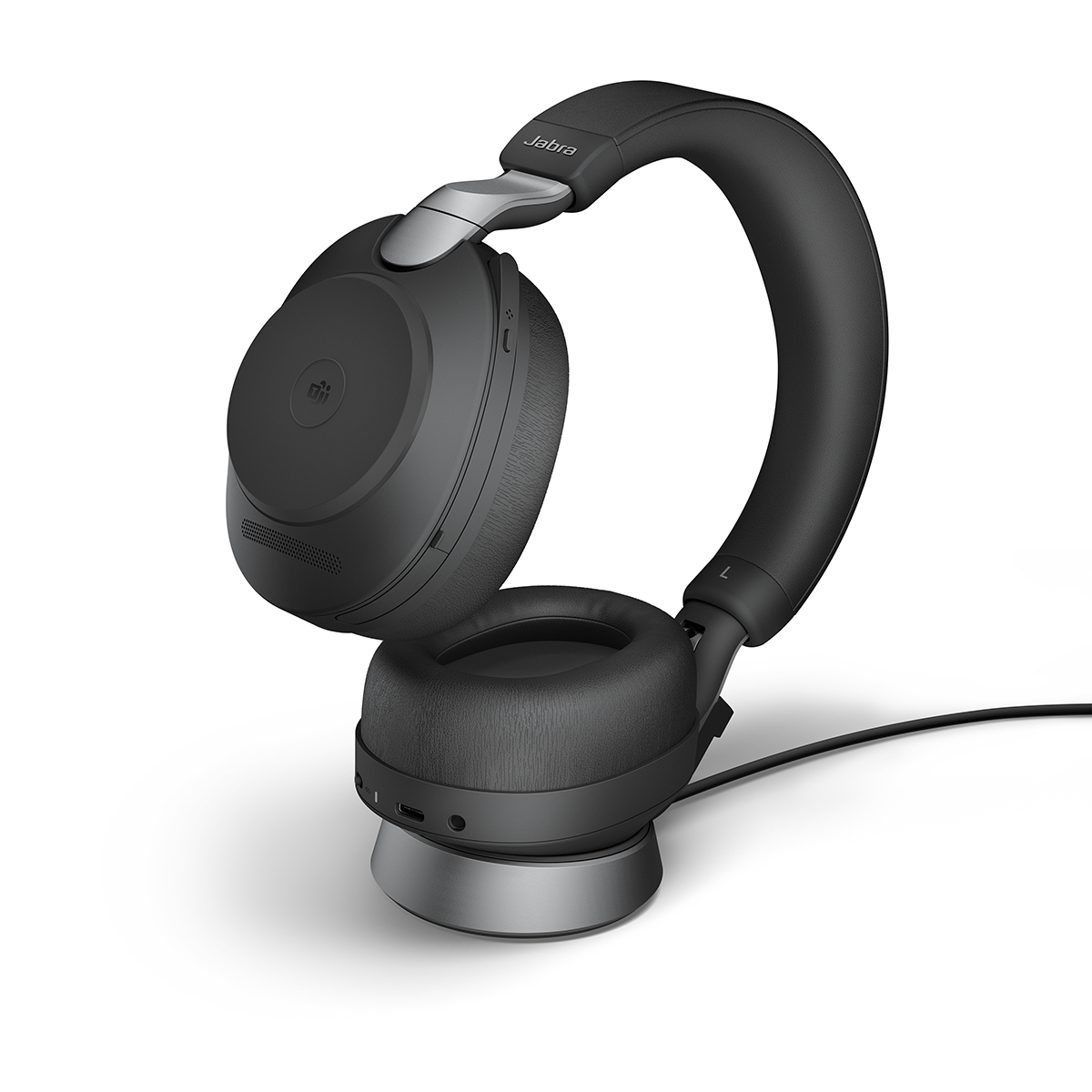 Jabra Evolve2 85 USB-C UC Stereo Headset and Charging Stand