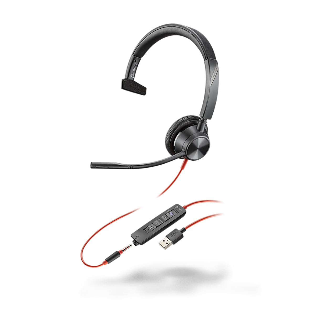 Poly Blackwire 3315 USB-A MS Monaural Headset