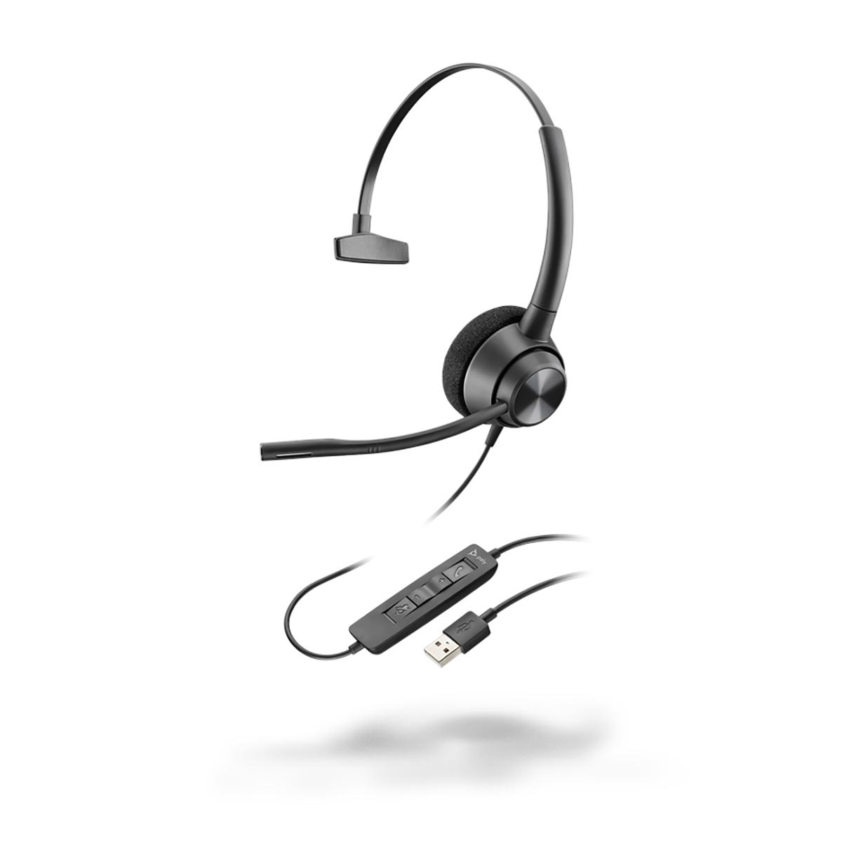 Poly EncorePro 310 USB-A Monaural Headset
