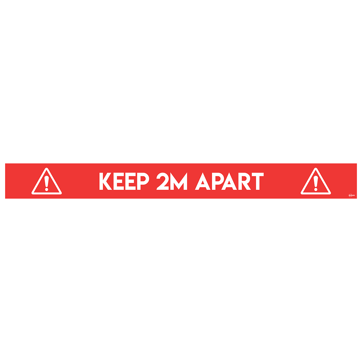 Avery Red COVID-19 Pre-Printed 2m Keep Apart Floor Sticker