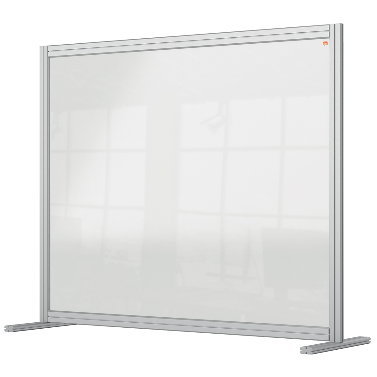 Nobo 1915491 Premium Plus Desk Divider 1200x1000mm Acrylic