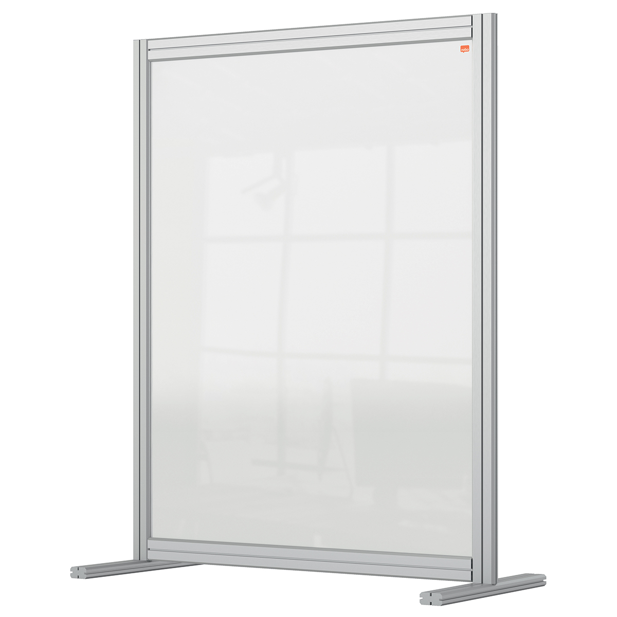 Nobo 1915492 Premium Plus Desk Divider 800x1000mm Acrylic