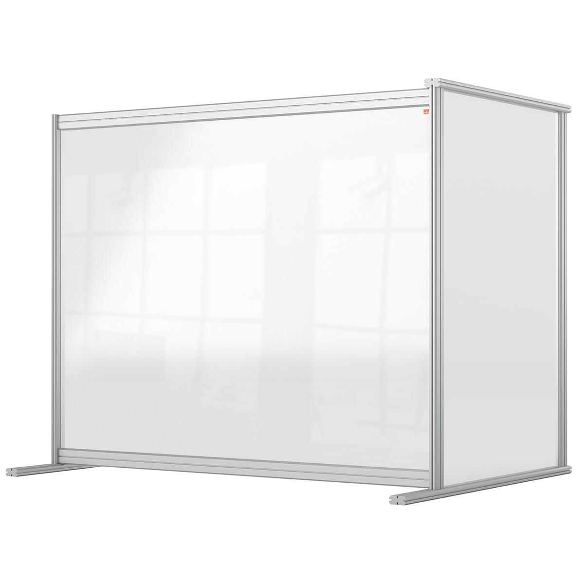 Nobo 1915496 Premium Plus Desk Divider Extender 1200x1000mm Acrylic
