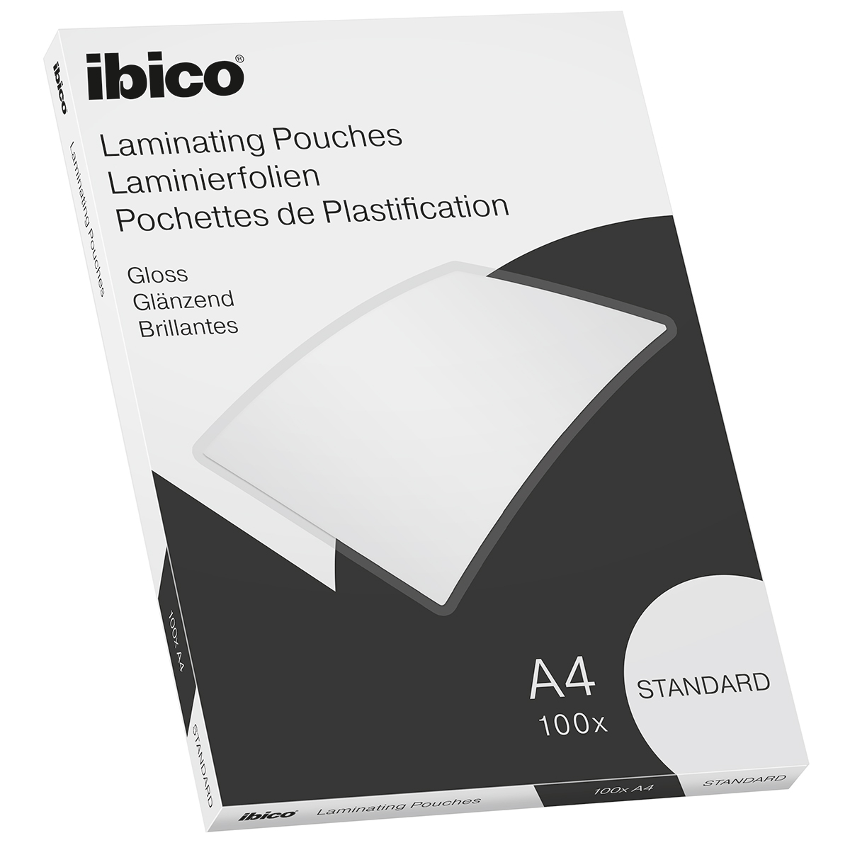 Ibico Basics A4 Gloss Laminating Pouches Standard - Pack of 100