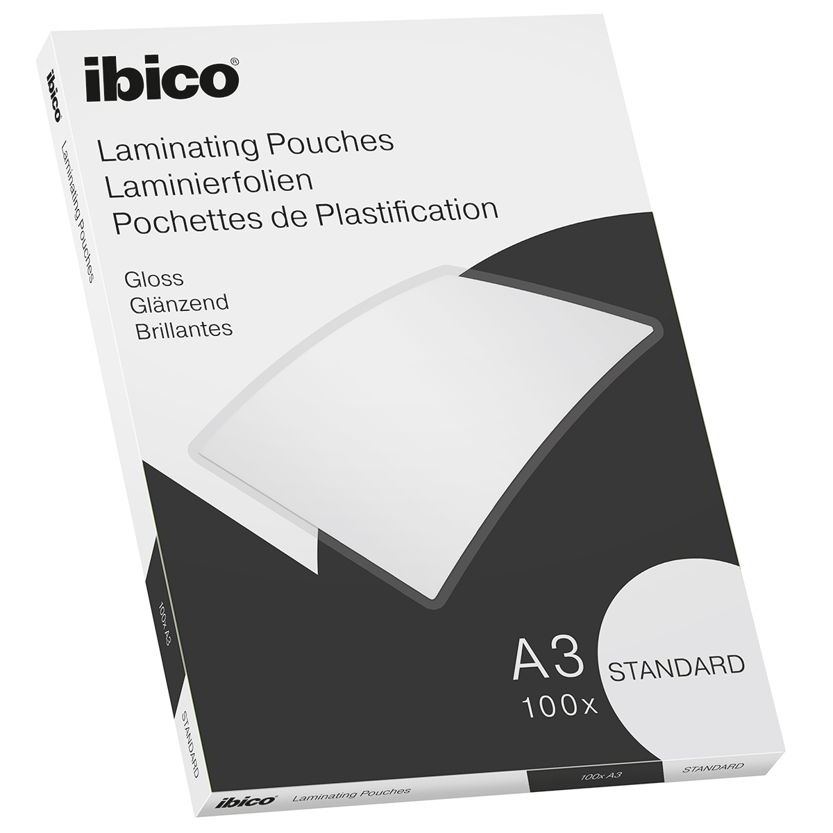 Ibico Basics A3 Gloss Laminating Pouches Standard - Pack of 100