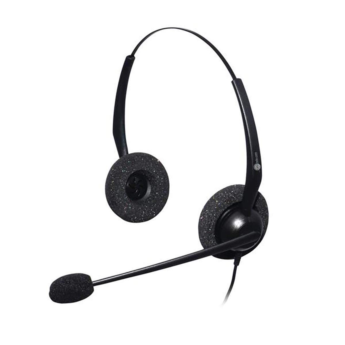 JPL Jac Plus Binaural Headset With Plantronics QD Plug