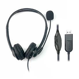 HiHo 218B Binaural USB-A Headset with Boom Mic