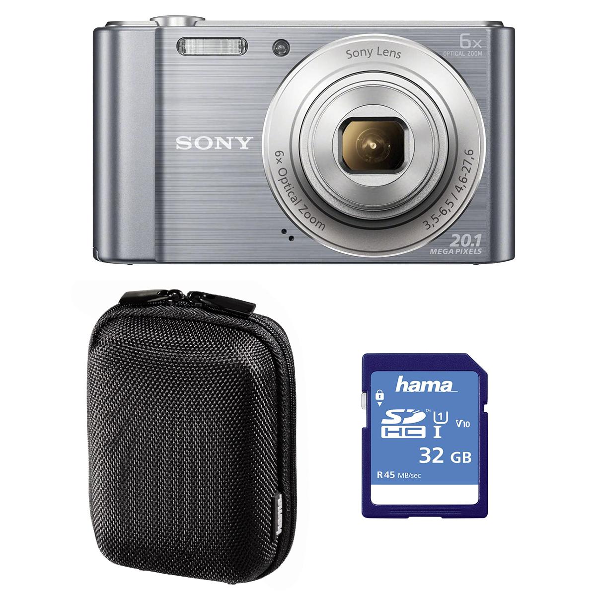 Sony W810 Silver Camera Bundle