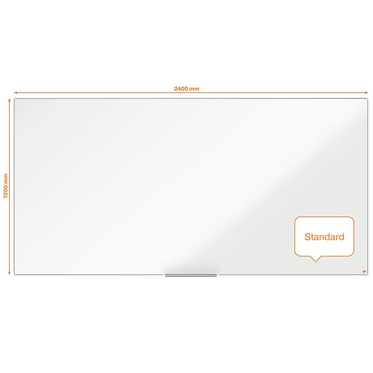 Nobo Impression Pro 2400x1200mm Nano Clean Magnetic Whiteboard