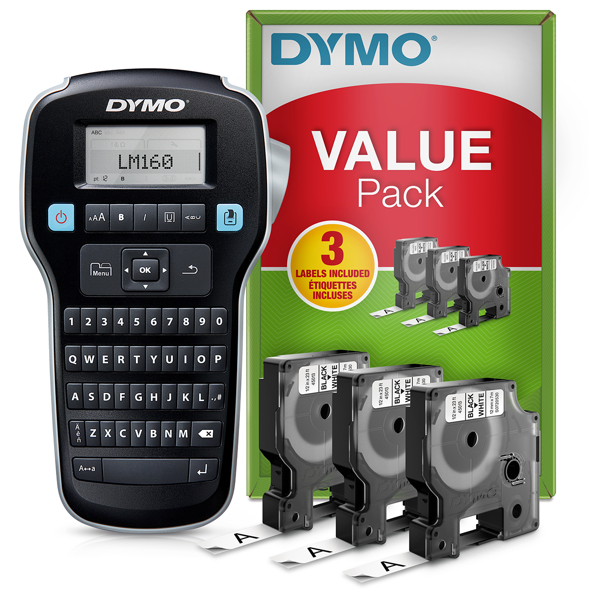 Dymo Labelmanager 160 Label Maker Value Pack
