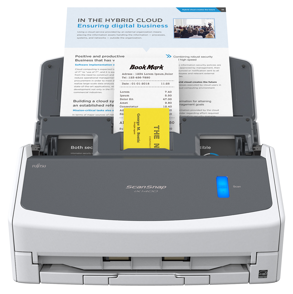 Fujitsu ScanSnap iX1400 A4 DT Workgroup Document Scanner