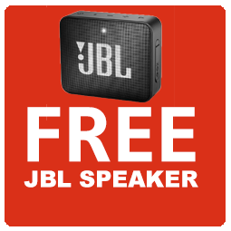Free JBL Go 2 Black Speaker! Icon