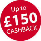 Claim up to £150 Cashback and more! Icon