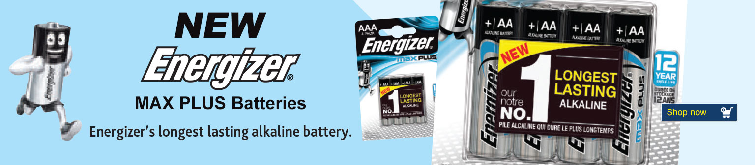 New Energizer Max Plus Batteries Banner Image