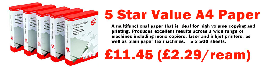 5 Star A4 Paper Banner Image