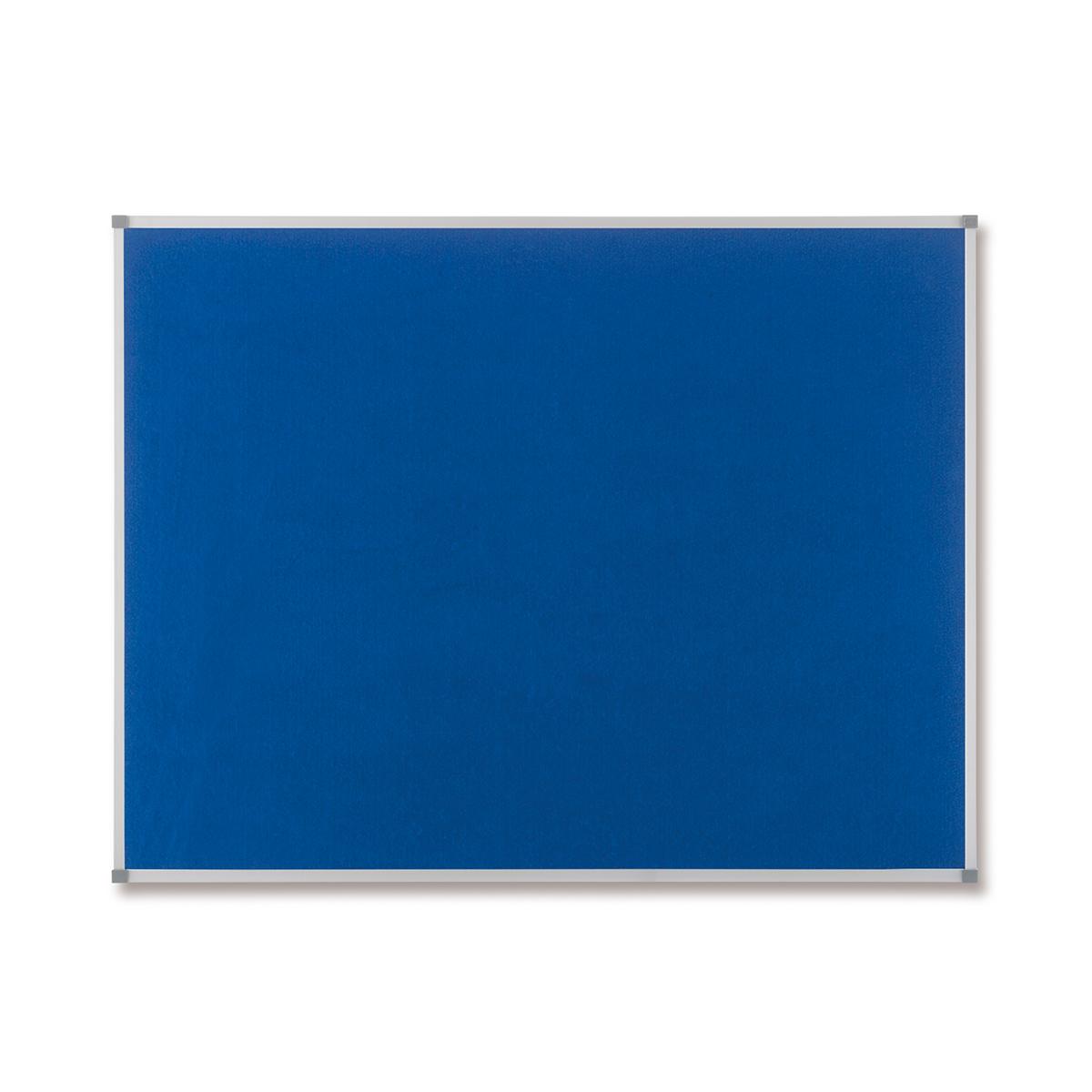 Nobo 1900916 Classic Blue Felt Noticeboard 1200 x 900mm