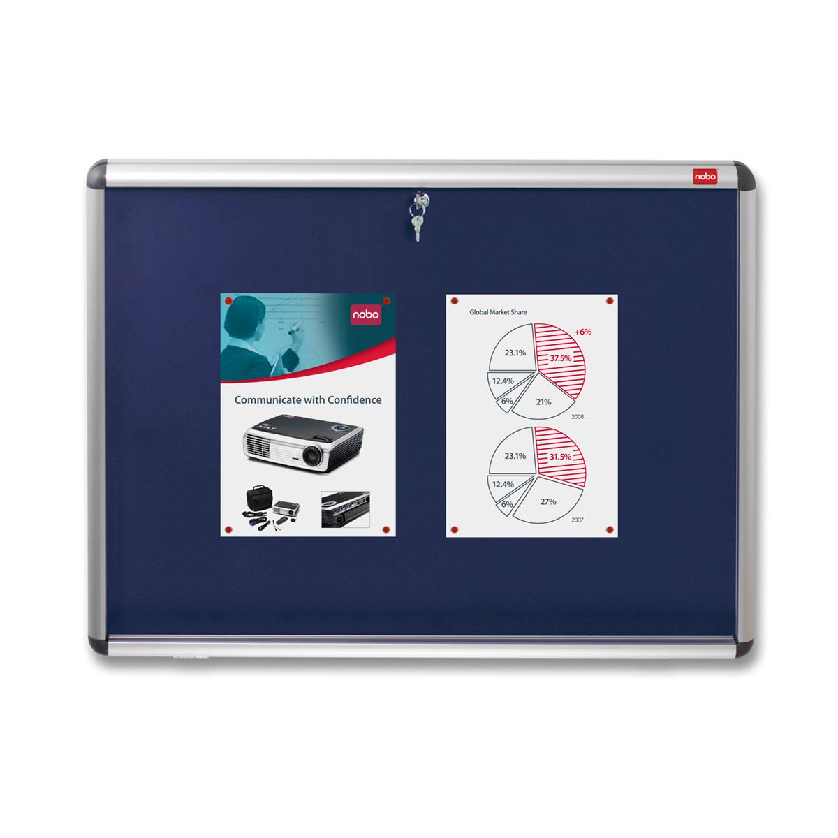 Nobo 1902048 A1 Internal Display Case with Blue Felt
