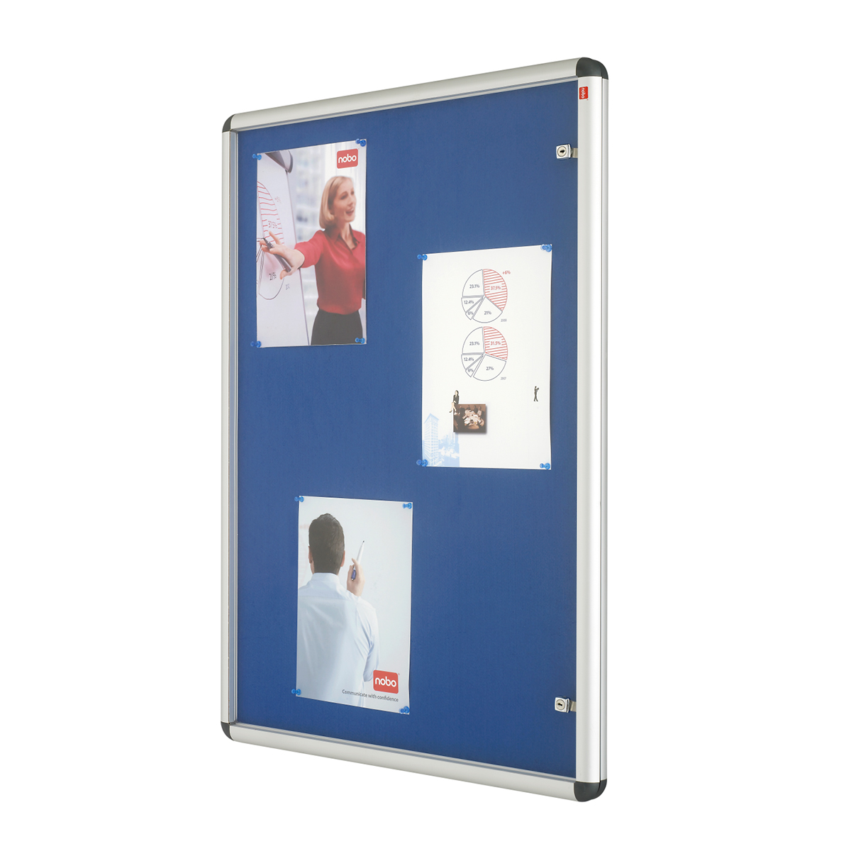 Nobo 1902049 A0 Internal Display Case with Blue Felt