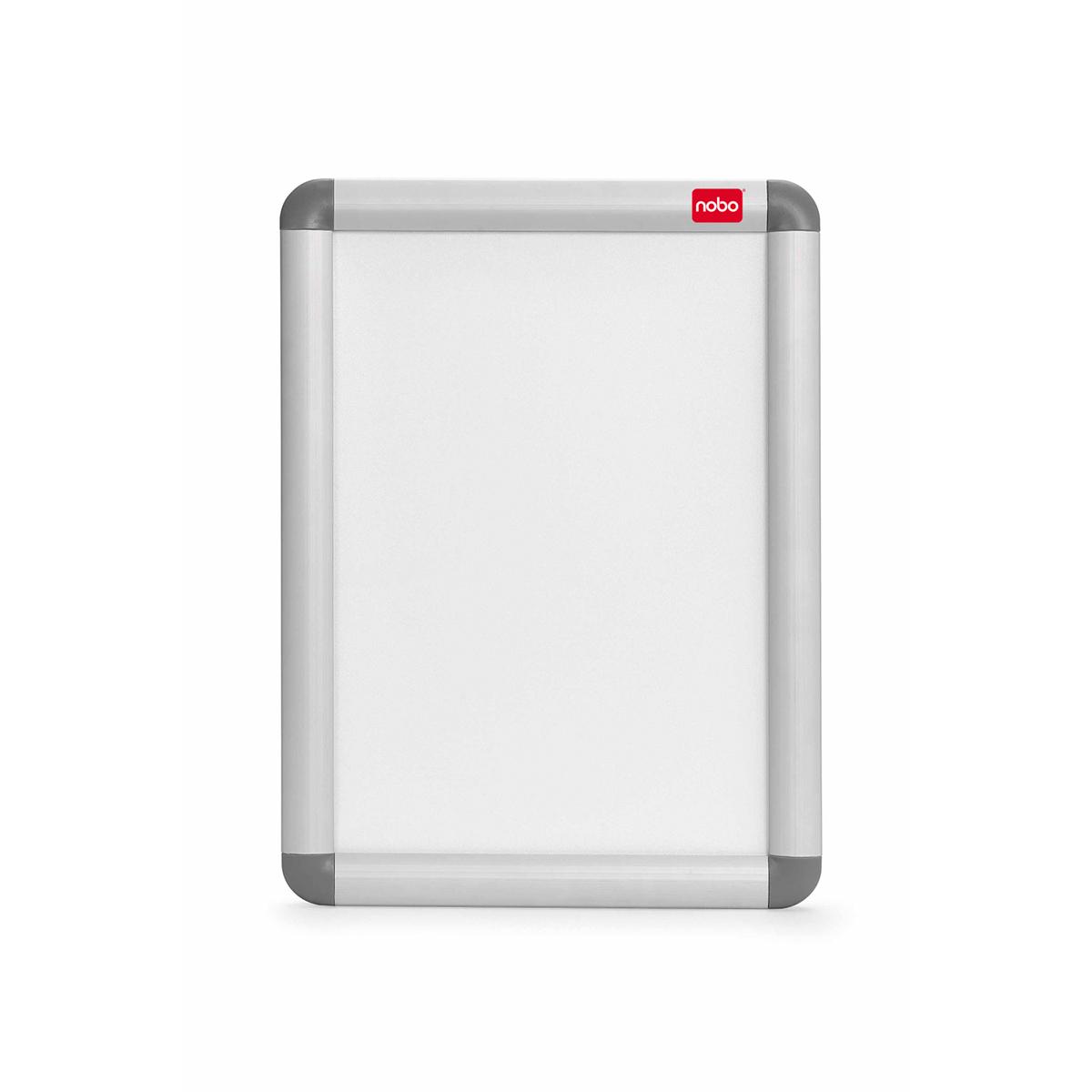 Nobo 1902214 A4 Clip Frame Silver and Grey