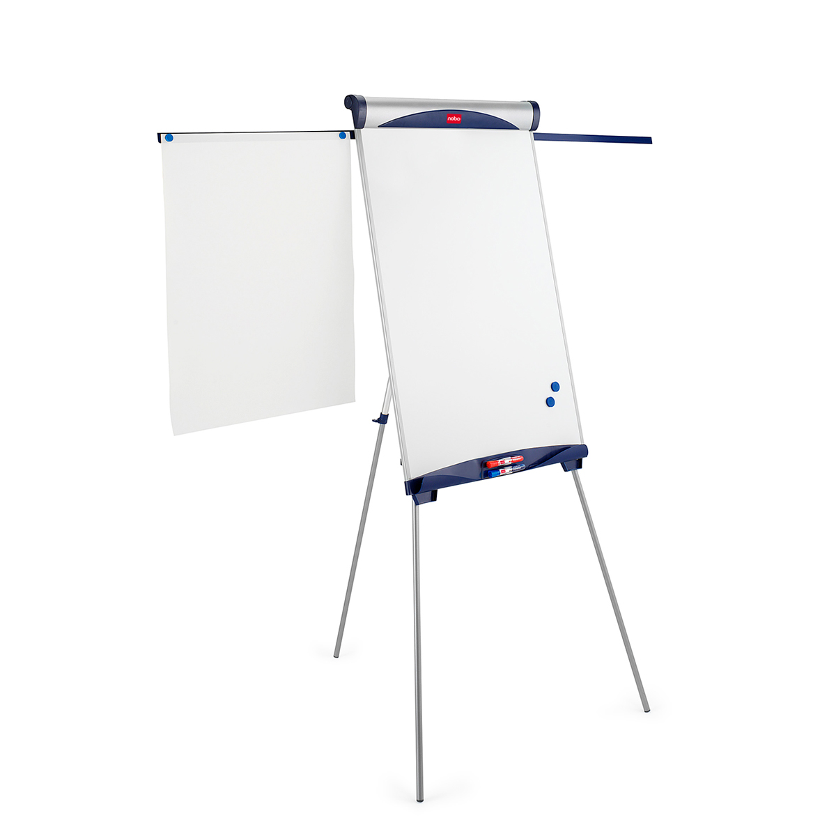 Nobo 1901918 Classic Steel Tripod Magnetic Flipchart Easel with Extending Arms