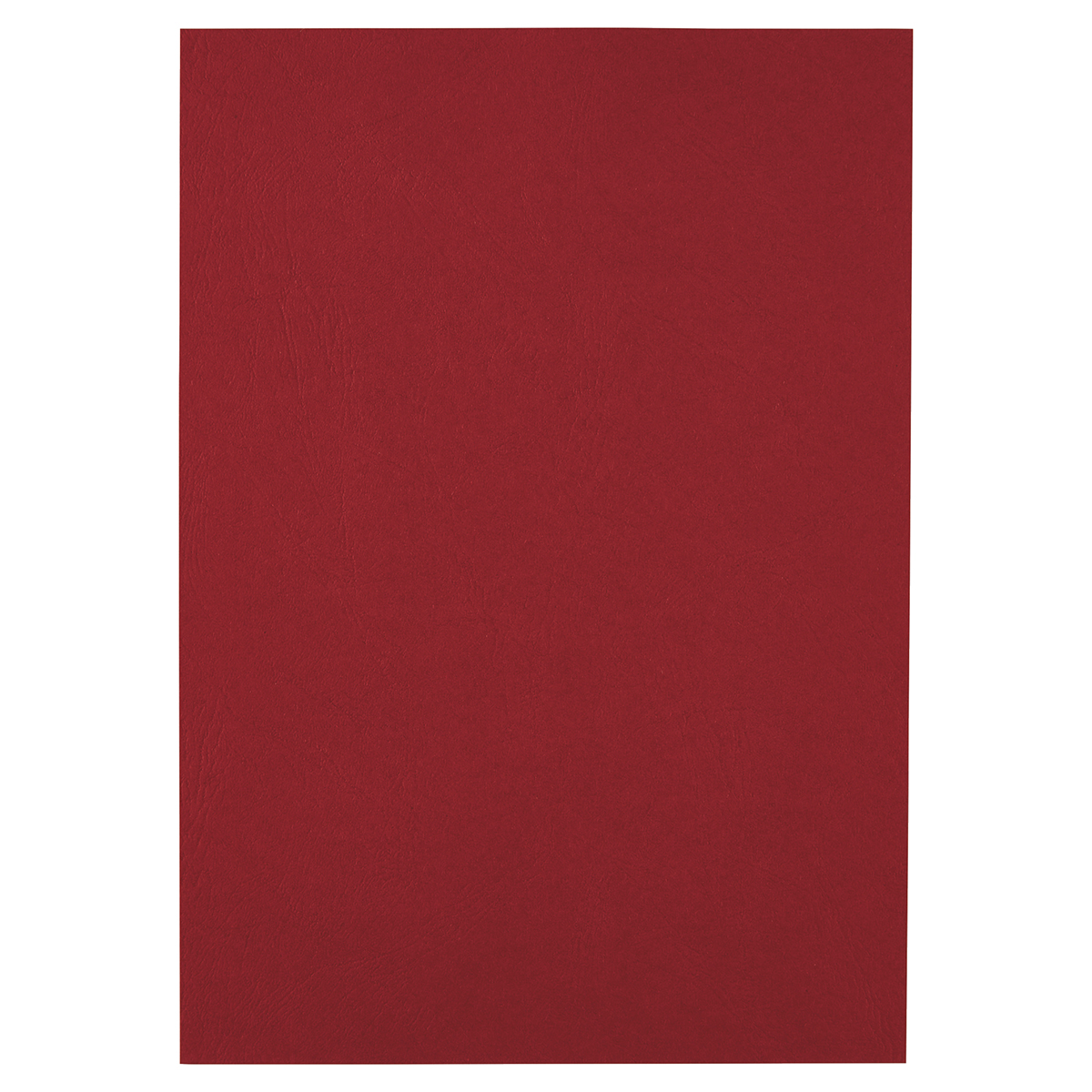GBC CE040030 Leathergrain A4 Cover Dark Red 100pk