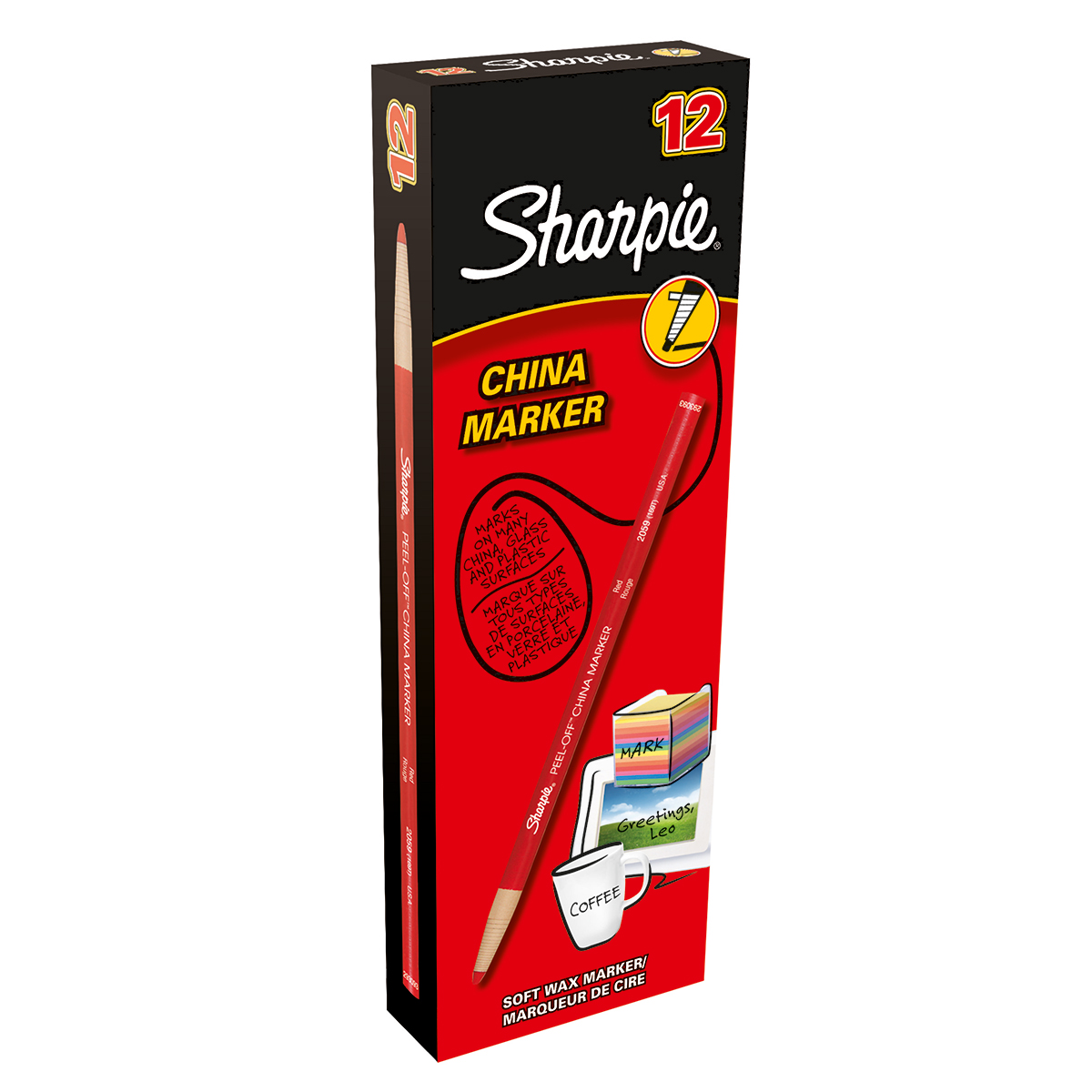Sharpie S0305081 Red China Marker Box of 12