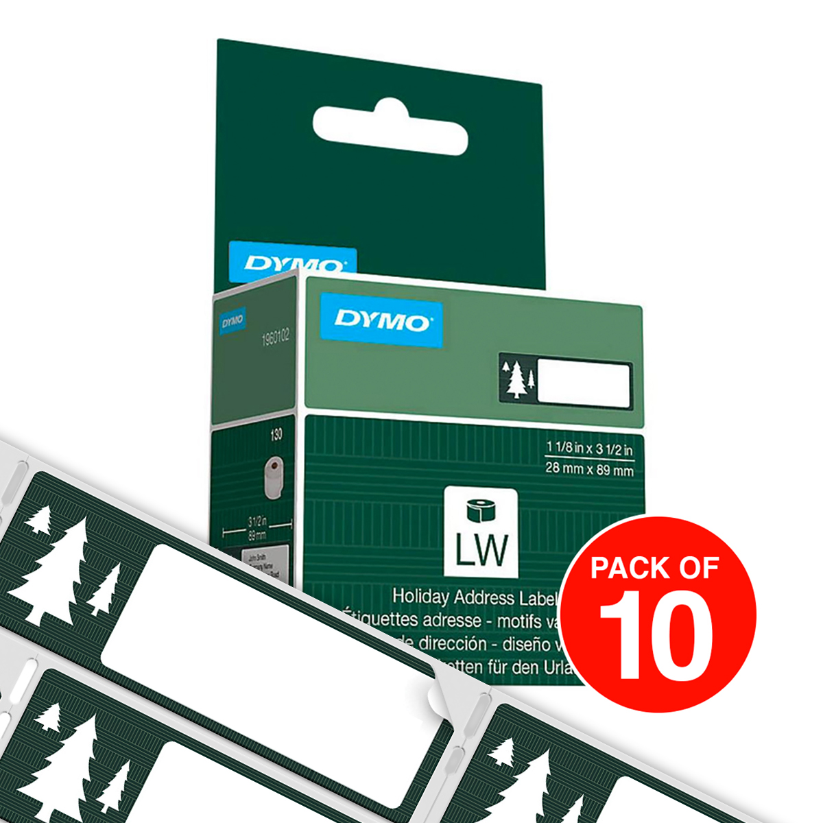 Dymo LabelWriter Tree Design Limited Edition 28 x 89mm Pack of 10
