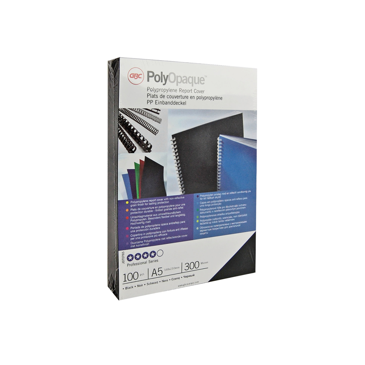 GBC IB387289 PolyOpaque A4 Binding Covers Red Pack of 100