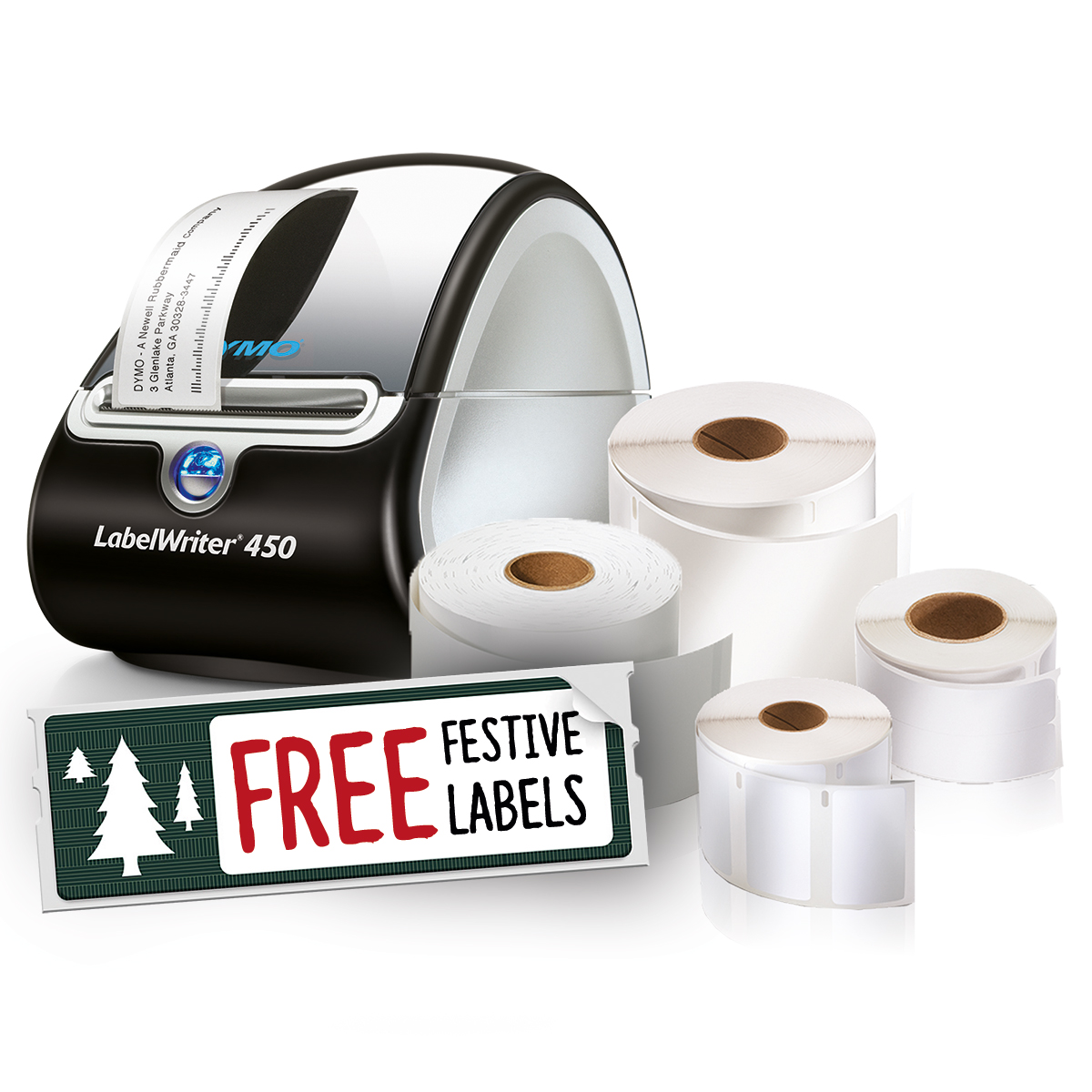 Dymo Labelwriter 450 Bundle with Free Tree Design Label